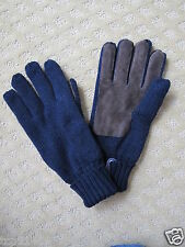 NWT J.Crew Men's Knit Acrylic Sueded Gloves  (OS)