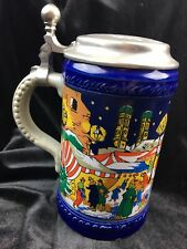 Marzi & Remy second annual Christmas lidded beer stein, 1979 Germany, numbered