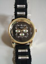 Designer Style Black/Silver/ Gold Finish With Rubber Band Fashion Men's Watch