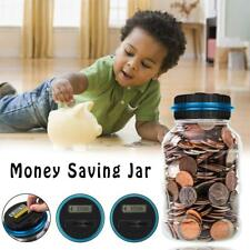 Digital LCD Money Box Bank Large Coin Counting Jar Change Counter Saving Box