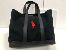 Polo by Lauren tote bag black and red