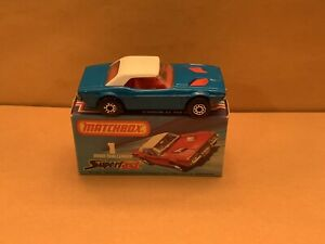 Matchbox SuperFast No. 1 Dodge Challenger - Blue Body With Red Interior Boxed