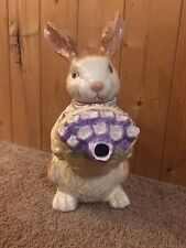 Longaberger Bunny Tea Pot  Handpainted~ Preowned