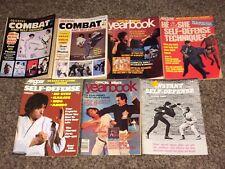 Vintage Self Defense Magazines Books Mma Oriental Combat Manual Karate Kung Fu
