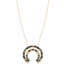 "NEW HOUSE OF HARLOW 1960 Gold/Black ""NELLI"" Pendant Necklace -SALE"