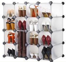Shoe Storage Organizer Display Shelves Rack for 16 Pairs Stand Cubes Holder Box