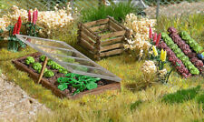 HO Scale Scenery -  Wooden Hotbeds & Compost Container