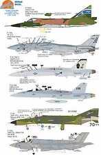 Wolfpak Decals 72-089 Checkmate, F-102A Delta F-14 Tomcat F-35 Lockheed Hornet
