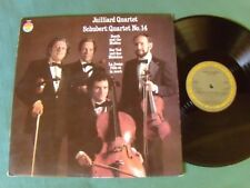 "SCHUBERT ""Death and the Maiden"" 14 / JUILLIARD QUARTET LP CBS MASTERWORKS 76827"