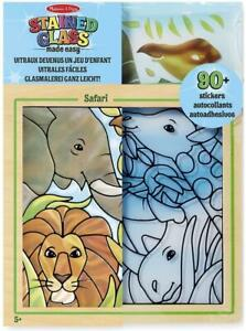Melissa and Doug, Stained Glass Made Easy Activity Kit, Safari