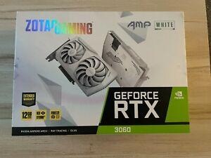 ZOTAC NVIDIA GeForce RTX 3060 AMP White Edition 12GB GDDR6 GPU Graphics Card New