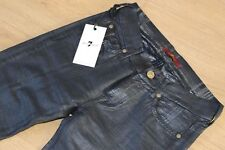 7 For All Mankind Black Check Skinny Metallic Coated Jeans Trousers W23 L28 NEW
