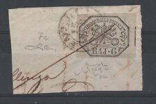 FRANCOBOLLI 1852 STATO PONTIFICIO 6 BAJ GRIGIO Z/5960