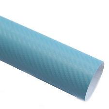 3x DIN A4 Wrapping Folie 3D Carbon Hell Blau 21cmx29,7cm Autofolie m Luftkanälen