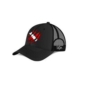 Sea Fear Torn Flag Logo Scuba Diving Hat Cap Flag Red Black