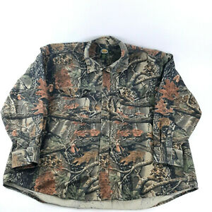 Cabela's Hunting Seclusion 3D Camo Long Sleeve Button up Shirt Men's 3XL Tall