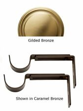 Designer Metals Curtain and Drapery Pole Brackets (Gilded bronze) (1858568)