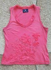 US Polo Assn Women's Top Pink Beads Sleeveless Size M