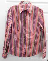 Etro Milano sz 46 Multicolor Striped Button Down Shirt Italy