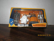 Doctor Who Dalek Cyberman Angel Adipose 4 Piece Christmas Ornament Set NEW 2016