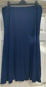 Julipa Navy Jersey Elasticated Waist Skirt. UK Size 14