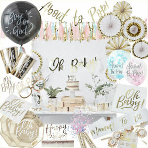 Oh Baby Shower Party Decorations Tableware Favours Mum to be Sash Gender Neutral