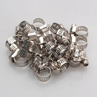 10X Adjustable Car Fuel Petrol Pipe Hose Clips Stainless Spring Clamp 0-25m C7S5