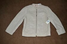 NWT ~ Canyon River Blues Cream Color Pleather Jacket Girls Sz 16 Retail $65