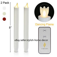 Luminara Flameless Flickering LED Taper Candles Battery Operated with Timer