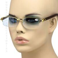 abda12fb1149 Men s VINTAGE RETRO Style READING EYE GLASSES READERS Wood Buffs Fashion  Frame