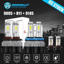 6X H11 9005 COB LED Headlight 9145 9140 Fog Light for 2015-2018 Ford F-150 6000K