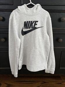 Nike Boys Sweatshirt Long Sleeve Hoodie Gray Athletic Top Boy's Size Medium