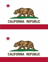 2x sticker Adesivo Adesivi decal Vinyl auto bandiera americana usa california