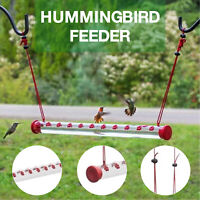 Bob's Best Hummingbird Feeder with Hole Birds Feeding Pipe Easy to Use 40cm