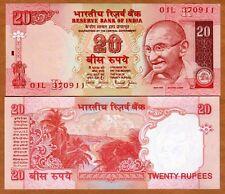 India, 20 Rupees, ND (2002), P-89Ab, UNC > Gandhi