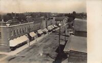 Real Photo Postcard Birds Eye View Street Scene in South Whitley, Indiana~126194
