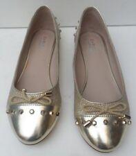 Women's Carvela Kurt Geiger Gold Ballerina Shoes - Size  UK 4 EUR 37