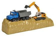Majorette Model car playset Construction Mercedes Zetros and Liebherr Excavator