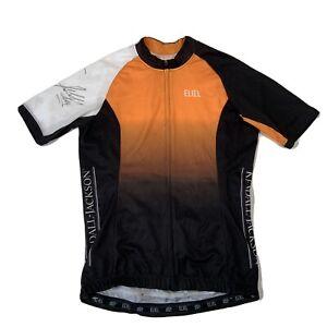 SIGNED Eliel Black & Orange Tour De Fox Cycling Jersey - Womens Medium