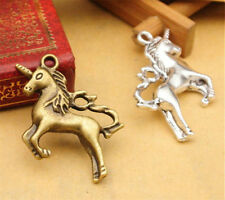 5 pcs Antiqued Bronze Unicorn Charm Pendants Diy Metal Jewelry Accessories 29mm