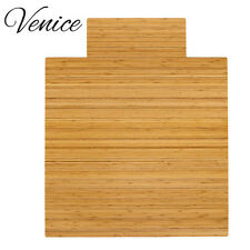 Venice Natural Bamboo Roll-up Chairmat Floor Mat, 36'' X 48'', w/ Lip tounge