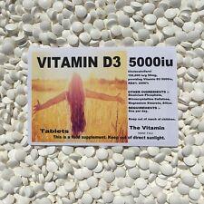 The Vitamine D3 5000iu 180 Comprimés puissance Maximum - Emballé
