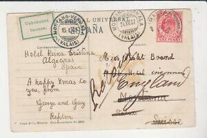POSTCARD - GIBRALTAR - POSTED 1907 WITH VALAIS POSTMARK