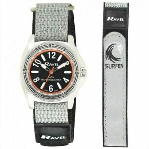 Ravel Deluxe Boy's 5ATM Bold Fabric Strap watch RD123B