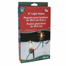Adams Christmas 9104-99-1640 8-Inch Light Stakes, 25-Pack