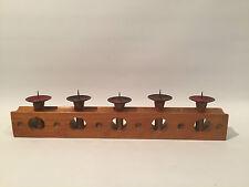 50er Jahre Kerzenständer Emaile & Holz Wood Design Candlestick 50s 60s