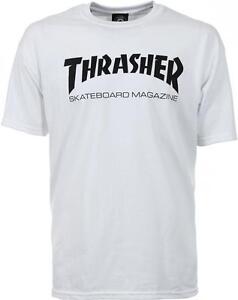 THRASHER T SHIRT SKATE MAG LOGO WHITE