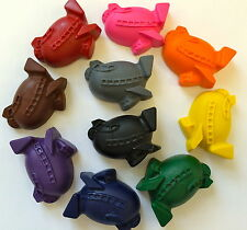 10 Rainbow Airplane Crayons Party Favors Teacher Supply Transportation