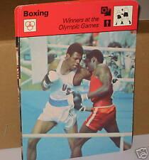 Les gagnants aux jeux olympiques de boxe Carte de collection