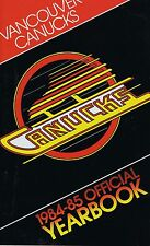 1984/85 Vancouver Canucks NHL Hockey Yearbook Media GUIDE